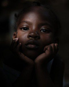 Lovely Avelus, six months after surviving the 2010 earthquake in Haiti. Photograph by Lucas Oleniuk